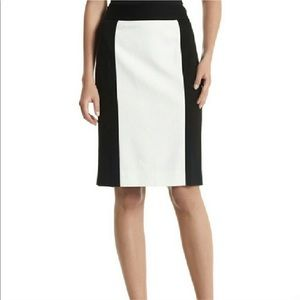 WHBM Colorblock Ponte Pencil Skirt